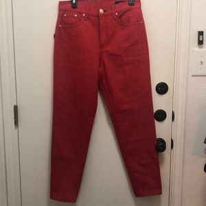 NEW Rag & Bone bull red ash jean